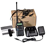 Baofeng UV-5R - Radio Walkie Talkie, color negro
