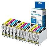 ECSC Compatible Tinta Cartucho Reemplazo Para Epson XP-455 XP-452 XP-445 XP-442 XP-435 XP-432 XP-355 XP-352 XP-345 XP-342 XP-335 XP-332 XP-257 XP-255 XP-247 XP-245 XP-235 29XL (B/C/M/Y, 12-Pack)
