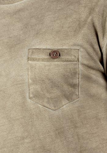 SOLID Terkel Herren Longsleeve V-Ausschnitt Langarmshirt aus 100% Baumwolle Dune (5409)