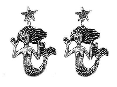 """Boucles d'oreilles TOULHOAT """"sirène cheveux au vent"""", argent 925"""