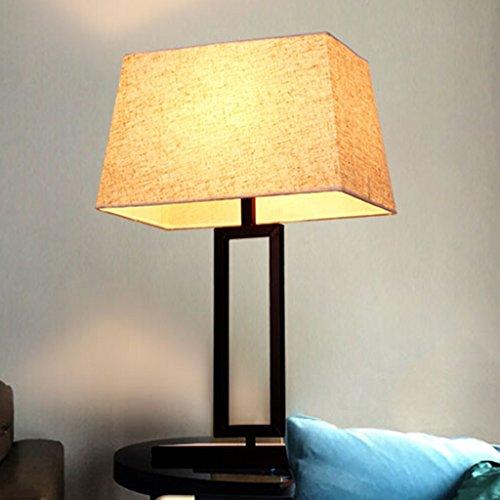 Moderne minimalistische antike Schmiedeeisen Schlafzimmer Wohnzimmer Nachttisch Lampe Dekoration Hotel A+ (Color : A#-36 * 61cm) (Antike Lampe Firma)