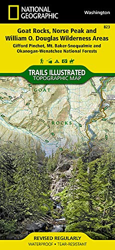 Goat Rocks, Norse Peak and William O. Douglas Wilderness Areas [gifford Pinchot, Mt. Baker-Snoqualmie, and Okanogan-Wenatchee National Forests] (National Geographic Trails Illustrated Map, Band 823)
