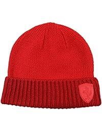 Ferrari-premium-Formula-1-red-lifestyle-knitted-beanie-hat-OSFA