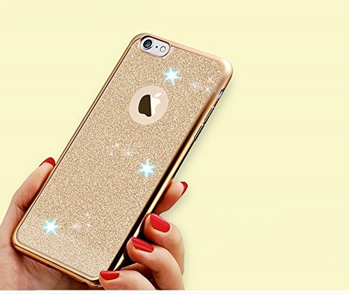 iPhone 6S Coque Silicone,iPhone 6S Coque Bling,iPhone 6S Coque en Silicone Placage Bling Diamant Coque Clair,EMAXELERS iPhone 6 / 6S Silicone Case Silver Slim Soft Gel Cover with Diamond,iPhone 6S Bli BV TPU 3