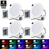 (4-PACK)LED Deckenleuchte Dimmbar 16 Farben mit Fernbedienung XJLED 10W LED