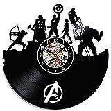Reloj Vintage pared vinilo Super héroe Avengers