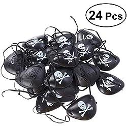 Set de parches de pirata para fiestas, 24 ud.
