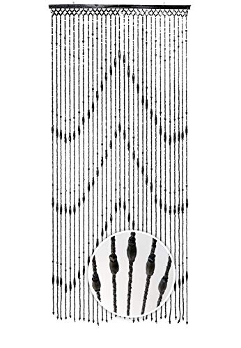 Kobolo Türvorhang Holzperlenvorhang Wood schwarz 31 Stränge 90x200 -