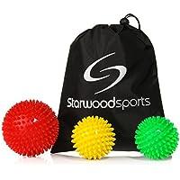 Starwood Sports ® Igelball/Massageball mit Noppen und Lacrosse-Bälle - für Tiefenmassage von Verspannungen und Triggerpunkten - als Set oder einzeln