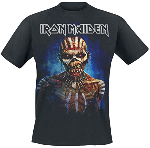 Iron Maiden Axe Ed Europe 2017 Camiseta Negro 3XL