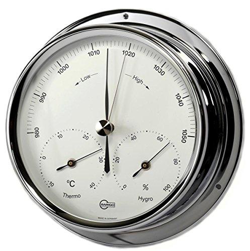 Barigo Stazione meteo analogico Barometro Termometro Igrometro marittimo cromo
