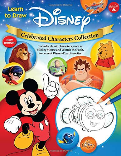 Learn to Draw Disney Celebrated Characters Collection: New Edition! Includes Classic Characters, Such as Mickey Mouse and Winnie the Pooh, to Current - Künstler Tools Malen