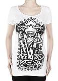 Restyle T-Shirt Blanc gargouille Top Gothique Horreur - XL