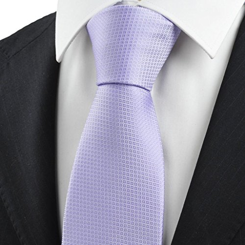 Violette purpurrote Diamant-Muster jacquardgewebten Mens-Krawatte, die Hochzeits-Geschenk (Diamant-muster-krawatte)