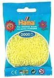 Hama - 501 - 43 - sachet de 2000 perles mini - (petites perles Ø2,5 mm) - Jaune Pastel