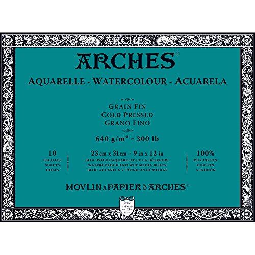 Unbekannt Arches 1795065Bloc para Acuarelas, Madera, Color Blanco, 31x 23x 1cm