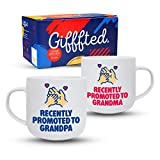 Gifffted Recently Promoted Grandparents Coffee Mugs, First Time Expecting Gifts For Grandma