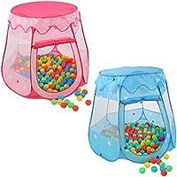 KIDUKU Tienda de campaña infantil + 100 bolas + bolsa casita de tela para jugar piscina
