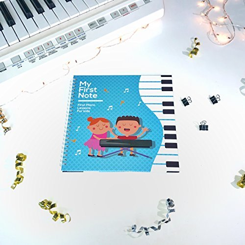 Made With Tone MY FIRST PIANO LESSON: Learn How to Play the Keyboard for Kids, Notes, and Songs for Children and Toddlers, Lessons for Beginners and Children's Gifts, Music Educational Books for Beginning Musicians.