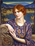 Poster 60 x 80 cm: Porträt Einer Frau (Fantasy). 1924 von John Bernard Munns/ARTOTHEK - Hochwertiger Kunstdruck, Neues Kunstposter
