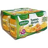 Blédina petits pots pommes abricot 4x130g dès 4/6 mois - ( Prix Unitaire ) - Envoi Rapide Et Soignée