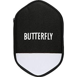 Butterfly – Tischtennishülle schwarz / weiß für zwei Tischtennisschläger und sechs Tischtennisbälle | Cell Case 2, Schlägerhülle
