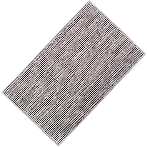 Lifewit tappeto antiscivolo da bagno scendi doccia in microfibra ciniglia 50x80 cm grigio