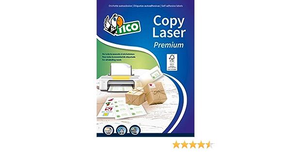 105 x 57 Tico LP4W-10557 Etichette con Margini Bianco