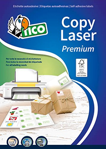 Tico LP4W-10574 Etichette Senza Margini, 105 x 74, Bianco