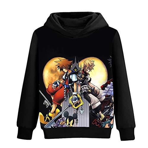 FONLONLON Kingdom Hearts Pullover Hipster Herren Pullover Anime Impressum Langarmshirts Pullover Sweatshirt Unisex (Color : A05, Size : XL)