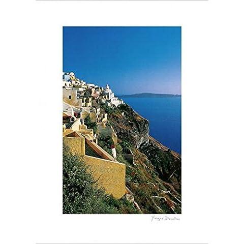 Yiorgo Depollas - Visto Di Un Monte Con Muri Gialli Stampa D'Arte (70 x 50cm)