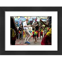 Framed 16x12 Print of Prince Harry visit to Jamaica - Day One (10418812)