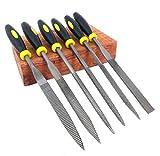 6er Set Premium Bastel Feilen Holzfeile Nadelfeilen Feinmechanik Raspel Modellbau Feile 140 mm von Modellbau Eibl ®