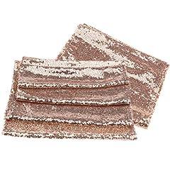 Idea Regalo - OTOTEC 2x Paillettes Runner, Oro Rosa rettangolo Glitterate tovaglia tavoli Runners Banchetto della Festa Nuziale Decorazione 30x 180cm