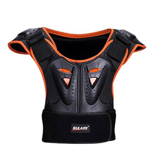 Aesy Gilet Armatura da Moto Protezione di Motocross Per Bambini, Armatura della Guardia del Corpo Scooter Ciclismo Pattinaggio Sciare Protezione del Spina Dorsale Protezione del Torace (S)