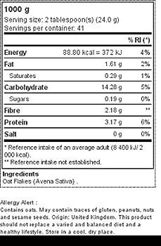 Flocons d'avoine 1 000 g
