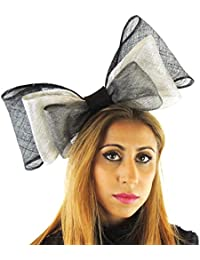 ef1a87fed5311 Hats By Cressida Ladies Wedding Races Ascot Derby Fascinator Headband Black…