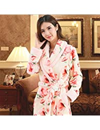 689389fbbf pengweiAutumn and winter nightgown winter thickening lengthening coral  cashmere bathrobe flannel pajamas