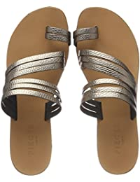 Psjiva Leather Sandal, Womens Gladiator Sandals Pieces