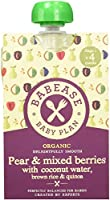 Babease Organic Stage 1 Baby Food/Pear/Mixed Berries Rice and Quinoa 100 g (Pack of 8)