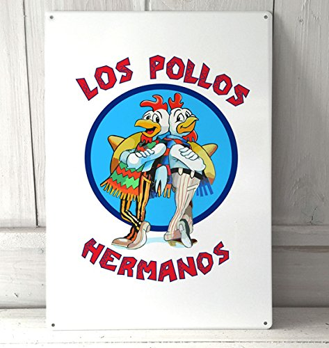Used, Los Pollos Hermanos breaking bad sign A4 retro metal for sale  Delivered anywhere in UK