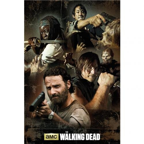 GB Eye 61 x 91,5 cm Collage The Walking Dead Maxi Poster, Mehrfarbig