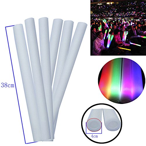 HKFV 1 STÜCKE Leuchten Schaum Sticks Glow Party LED Flashings Gesangs Konzert Wiederverwendbare Heißer LED Leuchtschaum Leuchtstab LED Foam Sticks (Akzent-kissen, Schwarz Und Weiß)