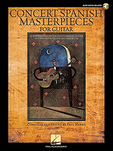 Concert Spanish Masterpieces For Guitar [With Cd] (Book & Cd)