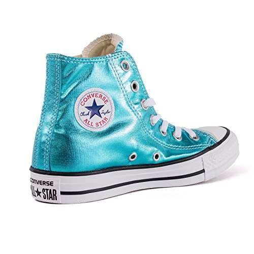 Converse Chucks 155555C Chuck Taylor All Star HI Fresh Cyan Black White Grün Metallic Fresh Cyan Black White