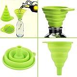 SmartStore no Spills-Adjustable Silicona Plegable Embudo Ideal para Estrecho Necked Botellas