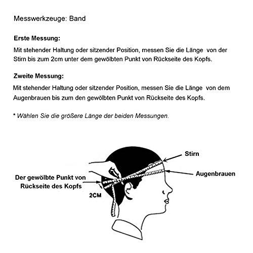 Yorbay Motorradhelm Integralhelm Sturzhelm Helm mit verschienden Typen & in unterschiedlichen Größen (Schwarz matt, M) - 6