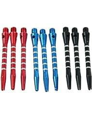 HeroNeo - 3 conjuntos de 9 piezas de dardos (aluminio, tamaño mediano)