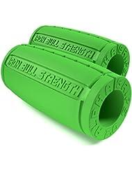 Alpha Grips 2.0 - 1 Paire - Design Ergonomique - Prise Épaisse pour Barres et Haltères, Augmente la Force de Préhension et des Avant-Bras, Fitness Grips, Fat Bar, Appareil d'exercice pour les mains et les doigts …