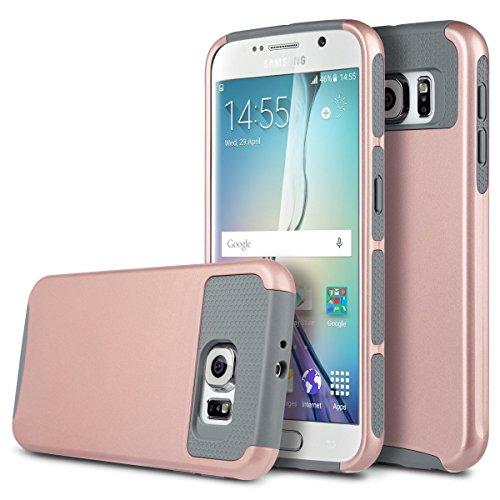 Galaxy S7Fall, x-Master [Stoßdämpfung] [Armor Series] Heavy Duty [1Verbindungskabel] Dual Layer Armor Schutzhülle mit Integriertem Standfuß für Samsung Galaxy S7(13cm), Rose Gold+Grey